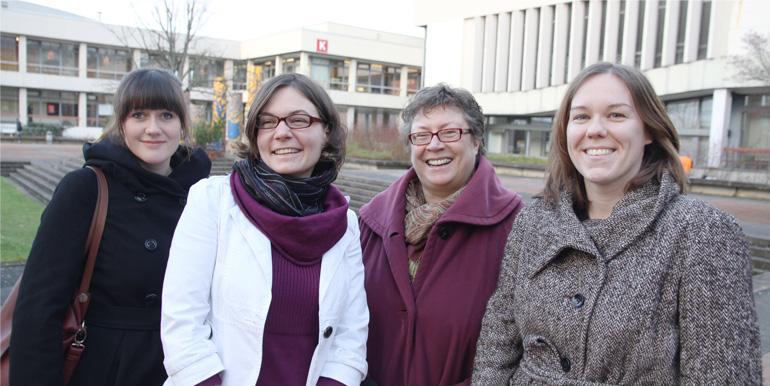 Auf dem Foto von links nach rechts: Jördis Grabow, Lucia Kilius, Heike Kahlert, Agnes Raschauer